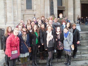 Group Photo in front of St. Paul's Cathedral